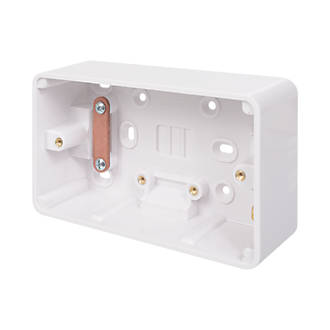 Schneider Electric Lisse 2-Gang Surface Pattress Box 40mm