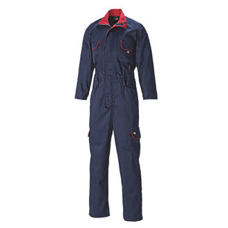 """Dickies Redhawk Ladies Zip-Front Coverall Navy Size 18 30"""" L"""