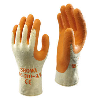 Showa 310 Original Builders Gloves Orange Large