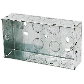Appleby Galvanised Steel Knockout Box 2G 35mm