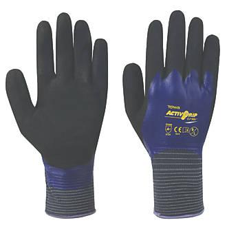 Towa ActivGrip CJ-569 Nitrile Fully-Coated Gloves Purple Large
