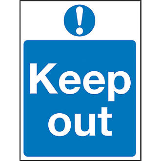 """""""Keep Out"""" Sign 200 x 150mm"""