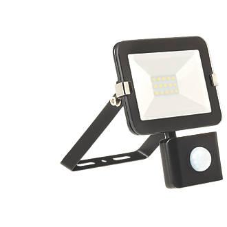 Brackenheath iSpot LED PIR Slim Floodlight Black 10W Cool White