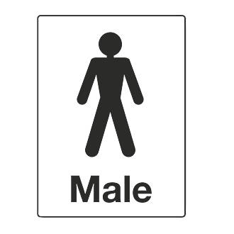 """""""Male"""" Toilet Sign 200 x 150mm"""