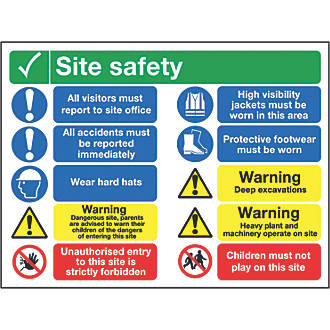 """""""Site Safety"""" Sign 600 x 800mm"""