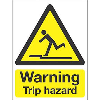 """Warning Trip Hazard"" Sign 210 x 148mm"
