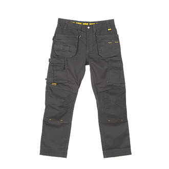 "DeWalt Thurlston Pro Stretch Work Trousers Black 30"" W 31"" L"