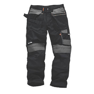 "Scruffs 3D Trade Trousers Black / Grey 34"" W 33"" L"