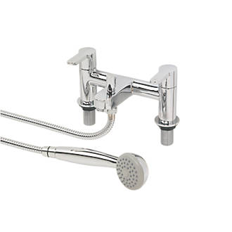Swirl Elevate Deck-Mounted  Dual Lever Bath/Shower Mixer Tap