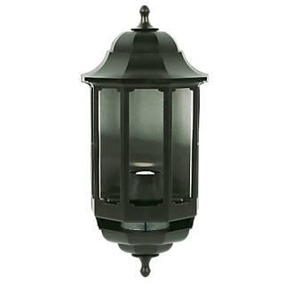 ASD Black BC PIR Master Half Lantern Wall Light with PIR 60W