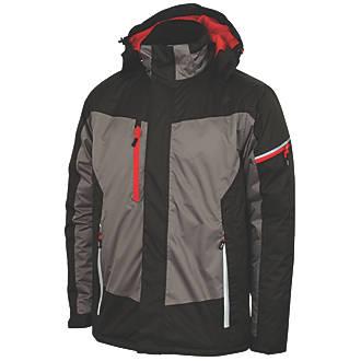 """Lee Cooper LCJKT446 Padded Jacket Black / Grey Large 42"""" Chest"""