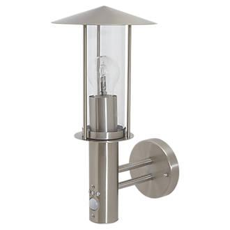 LAP ST1017APIR Stainless Steel E27 GLS PIR Outdoor Wall Light