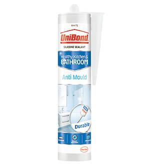 Unibond  Anti-Mould Shower & Bathroom Sealant Ice White 274g