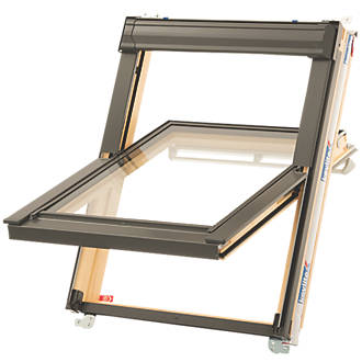 Keylite  T01 Manual Centre-Pivot Lacquered Timber Roof Window Clear 550 x 780mm