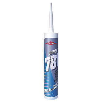 Dow 781 Acetoxy Silicone Sealant White 310ml