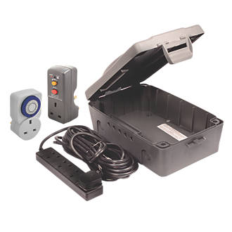 Masterplug IP54 Weatherproof Outdoor Box Kit