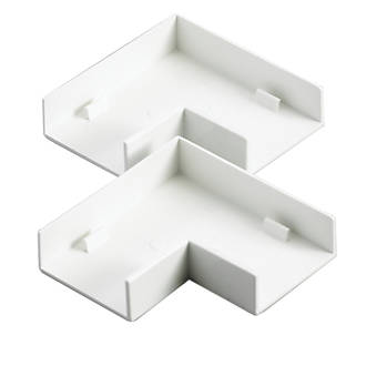 Tower  Flat Trunking Angle 38 x 16mm 2 Pack