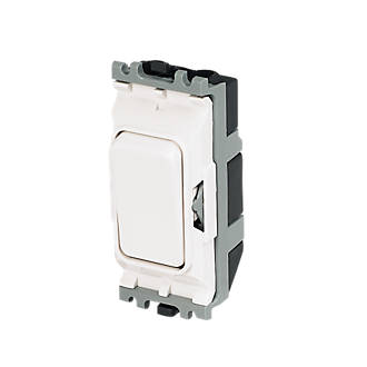 MK 2-Way 20A SP Grid Switch White