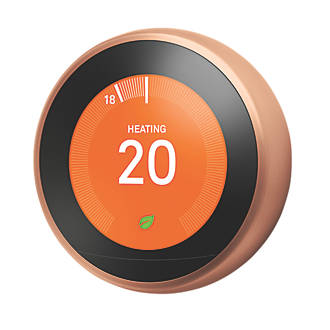 Google Nest Smart Thermostat & Hot Water Control Copper