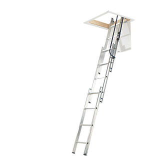 3-Section Aluminium Loft Ladder 3m