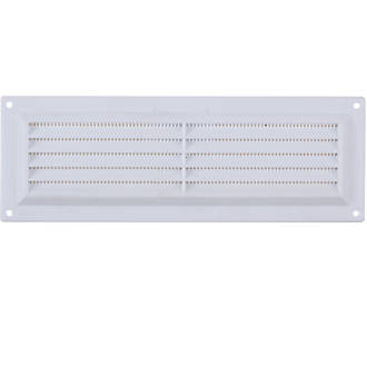 Map Vent Fixed Louvre Vent with Flyscreen White 229 x 76mm