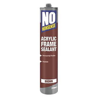 No Nonsense Acrylic Frame Sealant Brown 310ml