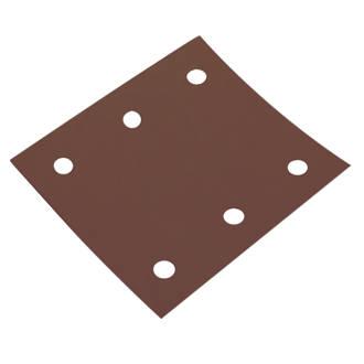 Flexovit ¼ Sanding Sheets Punched 114 x 102mm 120 Grit 5 Pack