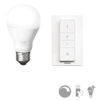 Philips Hue  Wireless Dimmer & Light Bulb Kit  9W 750lm