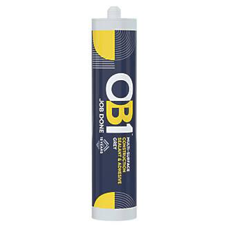OB1  Multi-Surface Sealant & Adhesive Grey 290ml