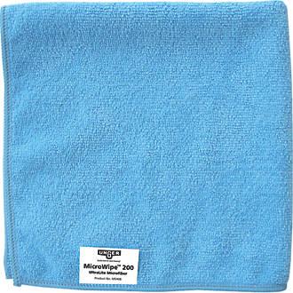 Unger Microfibre Cloths Blue 400 x 400mm 10 Pack
