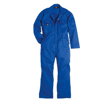 """Dickies Redhawk Economy Coverall Royal Blue Large 44-46"""" Chest 30"""" L"""