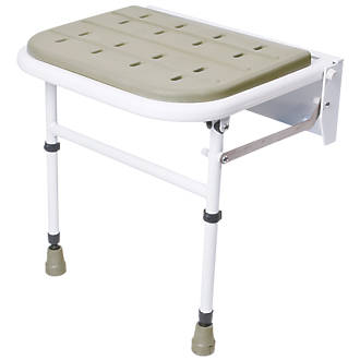 Nymas Wall-Mounted Padded Shower Seat Grey