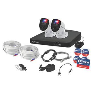 Swann SWDVK-456802-RL 4-Channel 4K DVR CCTV Kit & 2 Cameras
