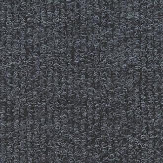 Distinctive Flooring  Ribbed Carpet Tiles Anthracite 16 Pack