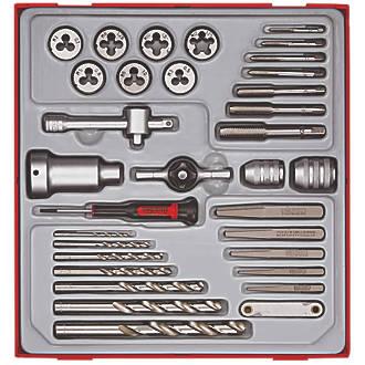 Teng Tools 3-12mm Metric Tap & Die Set  34 Pcs