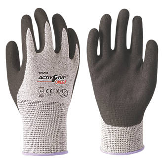 Towa ActivGrip Omega Gloves Black / Gray Large