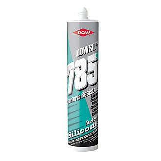 Dow 785+ Bacteria Resistant Sanitary Silicone White 310ml