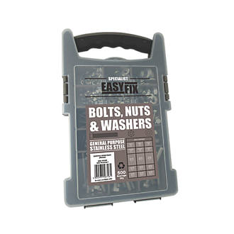 Easyfix  Mixed Bolts, Nuts & Washers Pack 500 Pcs