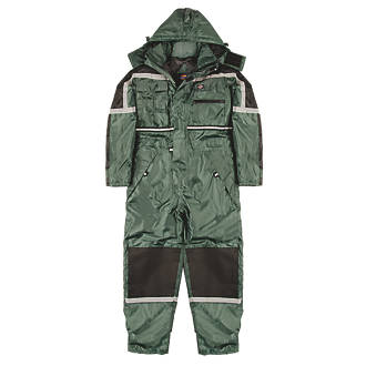 """Dickies WP15000 Waterproof Padded Coverall Green Large 44-46"""" Chest 32"""" L"""