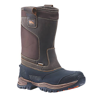 Hyena Nevis   Safety Rigger Boots Brown Size 11
