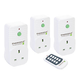 Energenie MiHome Wireless Remote Control Sockets White 3 Pack