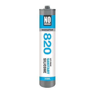 No Nonsense  Sanitary Silicone Sealant Manhattan Grey 310ml