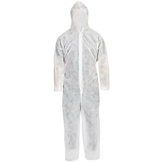"""Disposable Coverall White XX Large 55"""" Chest 33"""" L"""