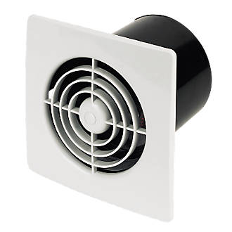 Manrose LP100ST 15W Bathroom Extractor Fan with Timer White 240V