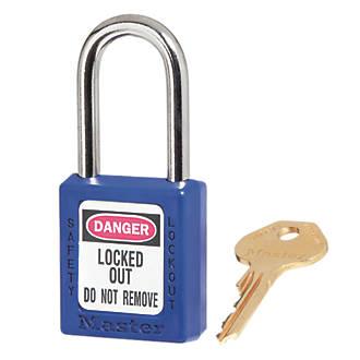 Master Lock Loto Safety Lock-Off Padlock Blue 20 x 38mm