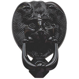 Fab & Fix Lions Head Door Knocker Black 98 x 136mm