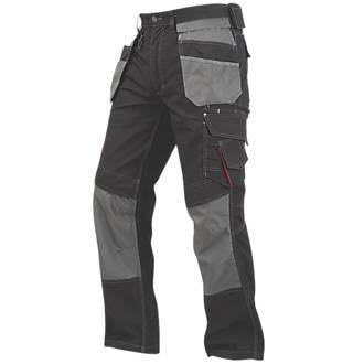 "Lee Cooper Holster Pocket Trousers Black / Grey 42"" W 31"" L"