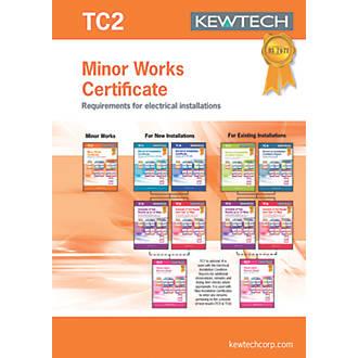 Kewtech TC2 Minor Works 40 Certificates