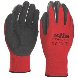 Site KF440 Superlight Latex Gripper Gloves Red / Black Medium