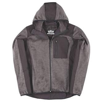 "Site Rowan Softshell Knitted Hoodie Dark Grey / Black Large 40-42"" Chest"